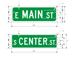 D-3 Street Name Guide Sign Spec