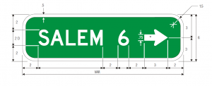 D1-1bR Destination Guide Sign Spec
