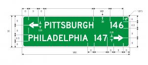 D1-2a Destination Guide Sign Spec