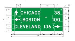 D1-3 Destination Guide Sign Spec
