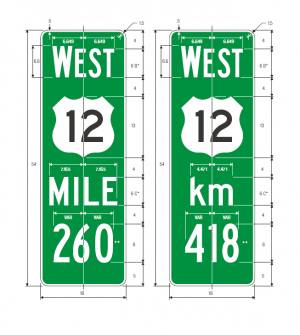 D10-4 Enhanced Reference Location Signs Guide Sign Spec
