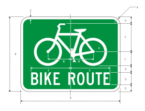 D11-1 Bicycle Route Guide Sign Spec