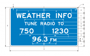 D12-1 Weather Info Guide Sign Spec