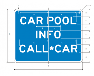 D12-2 Car Pool Information Guide Sign Spec