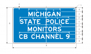 D12-3 Channel 9 Monitored Guide Sign Spec