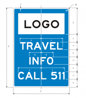 D12-5 Travel Info Call 511 Guide Sign Spec