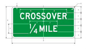 D13-2 Crossover Guide Sign Spec
