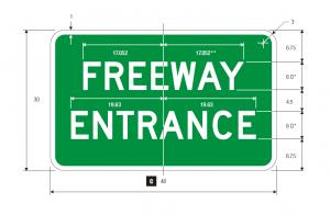 D13-3 Freeway Entrance Guide Sign Spec
