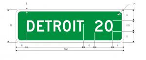 D2-1 Distance Guide Sign Spec