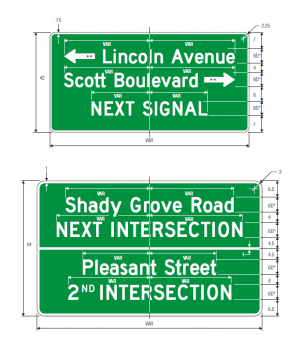 D3-2 Advance Street Name Guide Sign Spec