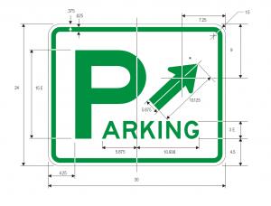D4-1 Parking Area Guide Sign Spec
