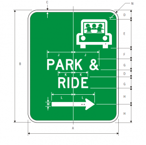 D4-2 Park and Ride Guide Sign Spec