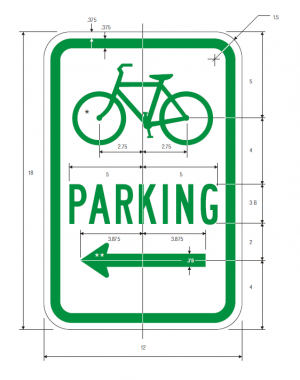 D4-3 Bicycle Parking Guide Sign Spec