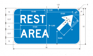 D5-2 Rest Area Exit Direction Guide Sign Spec