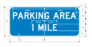 D5-3 Advance Parking Area Distance Guide Sign Spec
