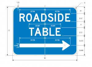 D5-5 ROADSIDE TABLE ARROWD5-5 Roadside Table Arrow Guide Sign Spec