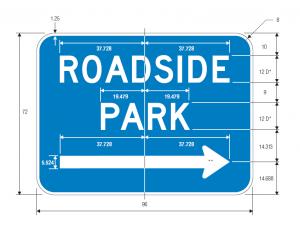 D5-5b Roadside Park Arrow Guide Sign Specs