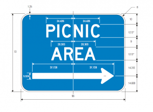 D5-5c Picnic Area Guide Sign Spec