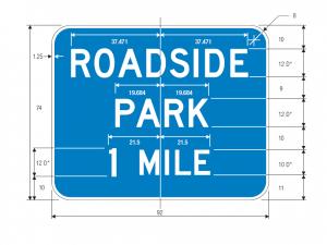 D5-5d Roadside Park Distance Guide Sign Spec