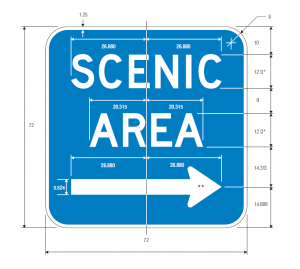 D6-1 Scenic Area Arrow Guide Sign Spec