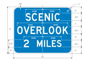 D6-2 Scenic Overlook Distance Guide Sign Spec