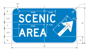 D6-3 Scenic Area Exit Direction Guide Sign Spec