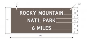 D7-1 National Park Guide Sign Spec