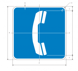D9-1 Telephone Guide Sign Spec
