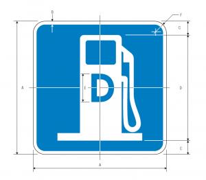 D9-11 Diesel Fuel Guide Sign Spec