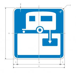 D9-12 RV Sanitary Station Guide Sign Spec