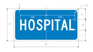 D9-13a Hospital Guide Sign Spec