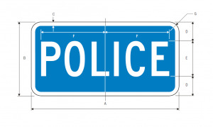D9-14 Police Guide Sign Spec
