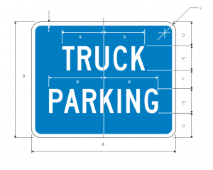 D9-16 Truck Parking Guide Sign Spec
