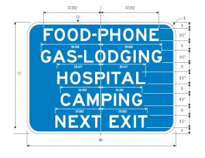 D9-18c Text Guide Sign Spec