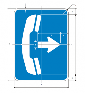 D9-1a Telephone Guide Sign Spec