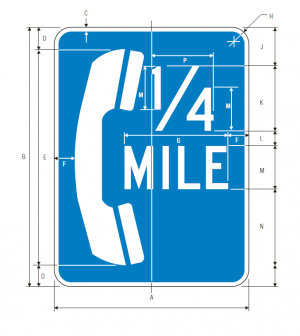 D9-1b Telephone Guide Sign Spec