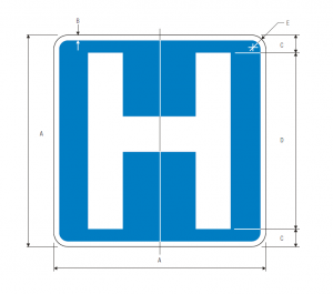 D9-2 Hospital Guide Sign Spec