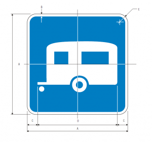 D9-3a Trailer Camping Guide Sign Spec