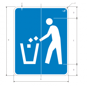 D9-4 Litter Container Guide Sign Spec