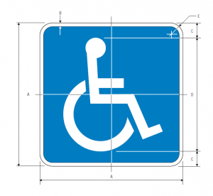 D9-6 Handicapped Accessible Guide Sign Spec