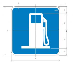D9-7 Gas Guide Sign Spec