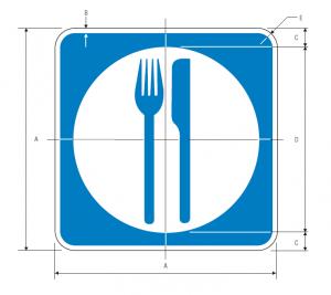 D9-8 Food Guide Sign Spec