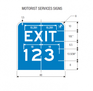 E1-5a Guide Sign Spec