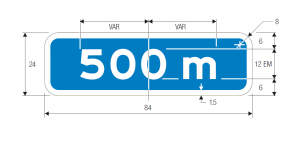 E2-3 Metric Guide Sign Spec