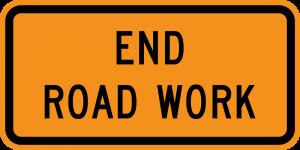 G20-2 End Road Work Warning Sign