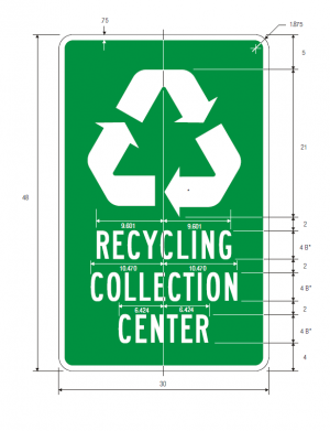 I-11 Recycling Guide Sign Spec