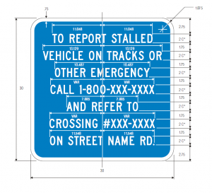 imgI-13 Emergency Notification Guide Sign Spec