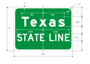 I-2 State Line Guide Sign Spec