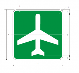 I-5 Airport Guide Sign Spec