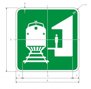 I-7 Train Station Guide Sign Spec